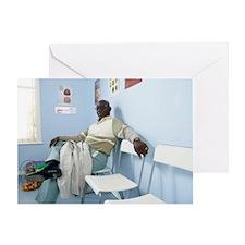 Elderly patient Greeting Card