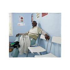 Elderly patient Throw Blanket