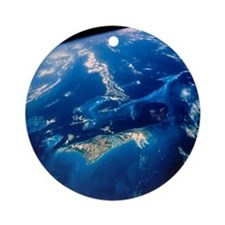 Shuttle view of part of The Bahamas Round Ornament
