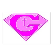 GOD POWERED SHEILD Pink Postcards (Package of 8)
