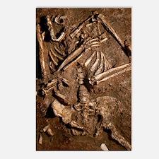 Neanderthal skeleton, Keb Postcards (Package of 8)