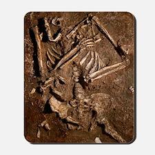 Neanderthal skeleton, Kebara Cave, Israe Mousepad