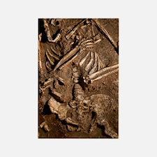 Neanderthal skeleton, Kebara Cave Rectangle Magnet