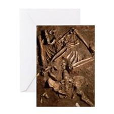 Neanderthal skeleton, Kebara Cave, I Greeting Card