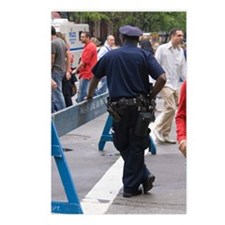 New York policeman leanin Postcards (Package of 8)