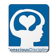 Conscious Discipline stacked logo - blue Mousepad