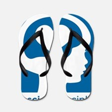 Conscious Discipline stacked logo - blu Flip Flops