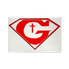 GOD POWERED SHEILD R/w Rectangle Magnet