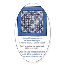 Stained Glass Jacobs Ladder back co Decal