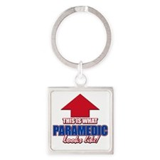 This is what paramedic looks like Square Keychain
