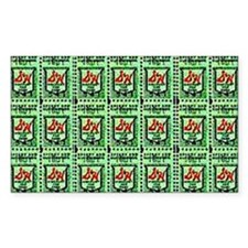 RETRO SH GREEN STAMPS Decal