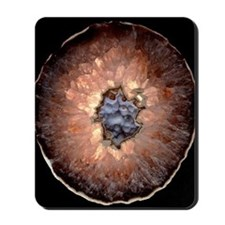 Section of quartz crystal geode Mousepad