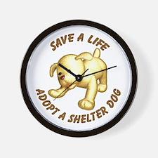 Shelter Dog Wall Clock