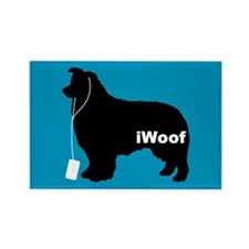 iWoof Border Collie Rectangle Magnet