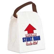 Cool Stuntman designs Canvas Lunch Bag