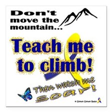 "Teach me Square Car Magnet 3"" x 3"""
