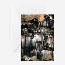 Schorl mineral Greeting Card