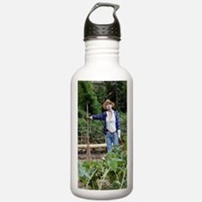 Scarecrow in a garden Water Bottle