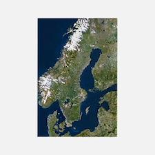 Scandinavia Rectangle Magnet