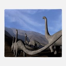 Sauropod dinosaurs Throw Blanket