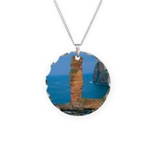 Sea stack Necklace Circle Charm