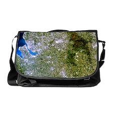 Satellite image of Liverpool and Man Messenger Bag