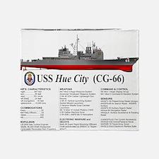 USS Hue City CG-66 Throw Blanket