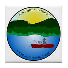 Bucks County Insiders Hat with Logo Tile Coaster