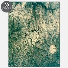 Satellite radar image of Gora Konder impact Puzzle
