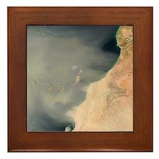Sand storm over Canary Islands Framed Tile