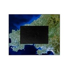 Satellite image of southwest Wales Picture Frame