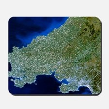 Satellite image of southwest Wales Mousepad
