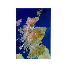 Satellite image of Scotland Rectangle Magnet