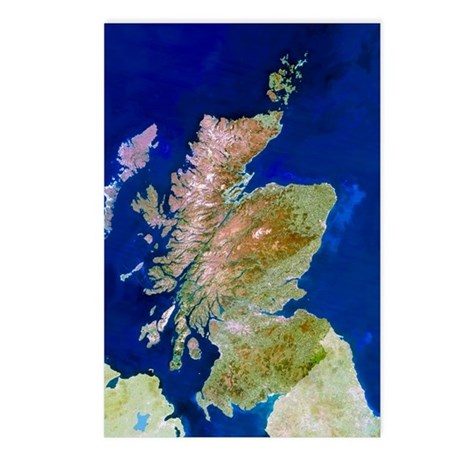 Satellite image of Scotla Postcards (Package of 8)