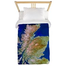 Satellite image of Scotland Twin Duvet