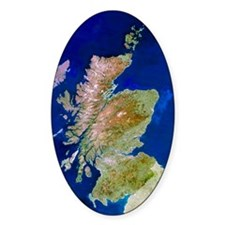 Satellite image of Scotland Decal