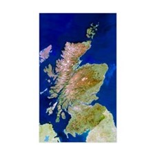 Satellite image of Scotland Decal