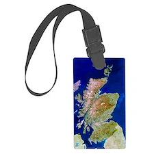 Satellite image of Scotland Luggage Tag