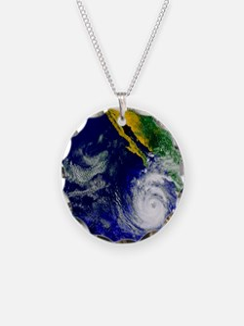 Satellite image of Hurricane Necklace