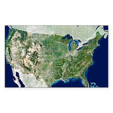 satellite image Decal