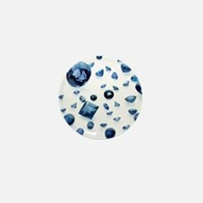 Sapphire gemstones Mini Button