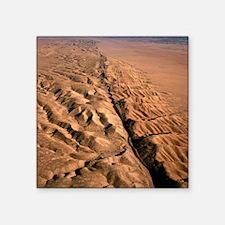 "San Andreas fault, aerial v Square Sticker 3"" x 3"""
