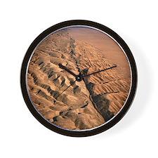San Andreas fault, aerial view Wall Clock