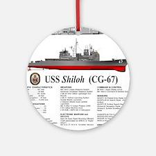 USS Shiloh CG-67 Round Ornament