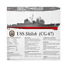 USS Shiloh CG-67 Queen Duvet