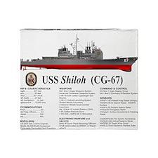 USS Shiloh CG-67 Throw Blanket