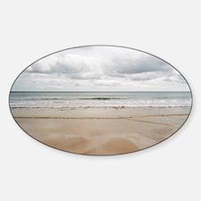 Sandy beach Sticker (Oval)