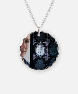 Doctor studying an MRI scan Necklace