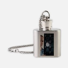 Doctor studying an MRI scan Flask Necklace