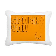 Spork you Rectangular Canvas Pillow